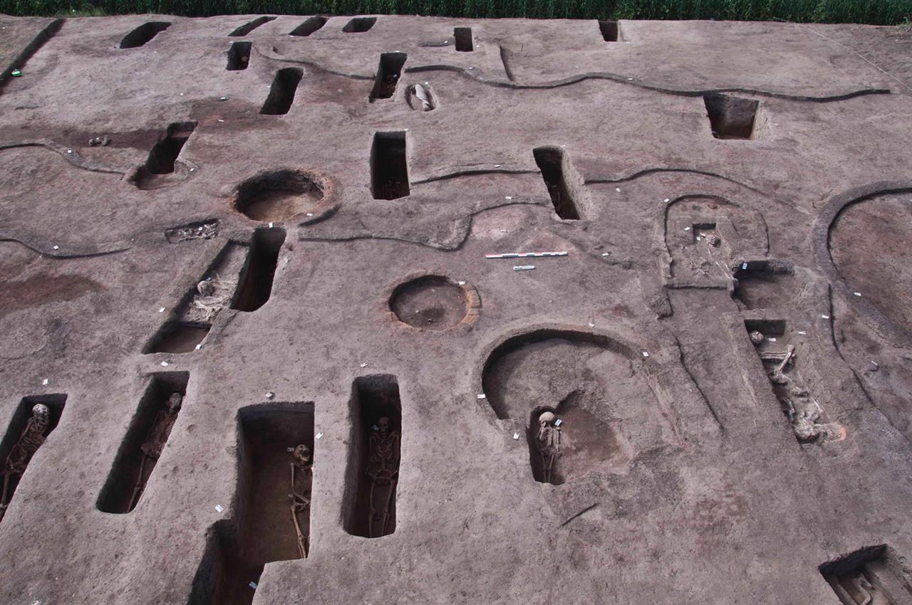 الأثاث الجنائزي المكتشف ببعض المقابر