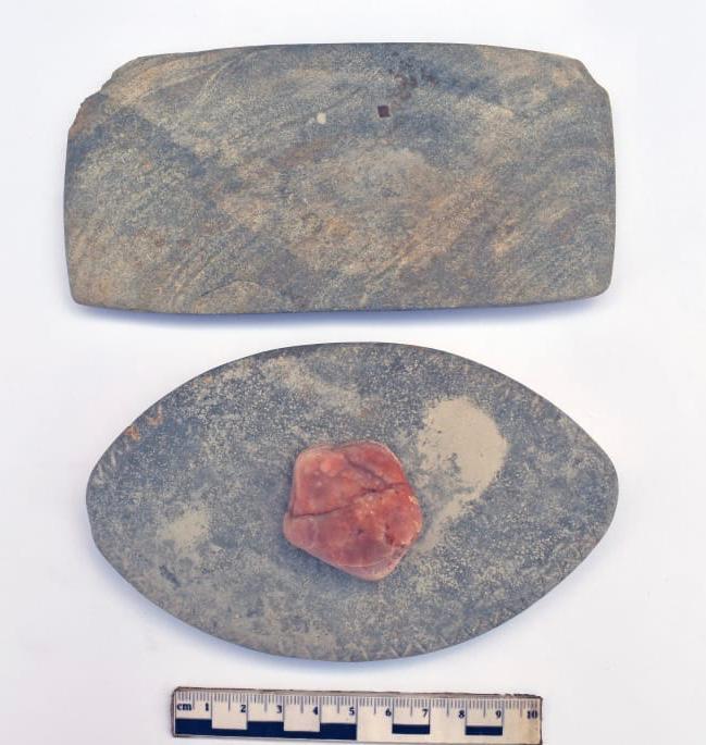 القطع الأثرية التي تم اكتشافها