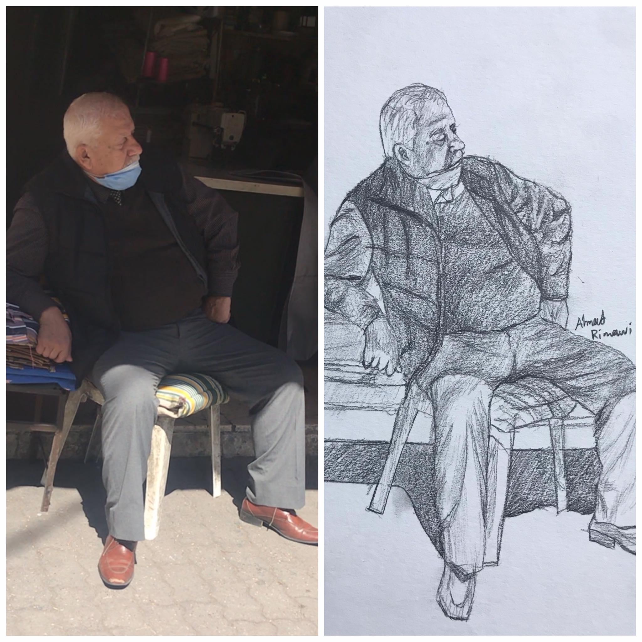 رجل يجلس