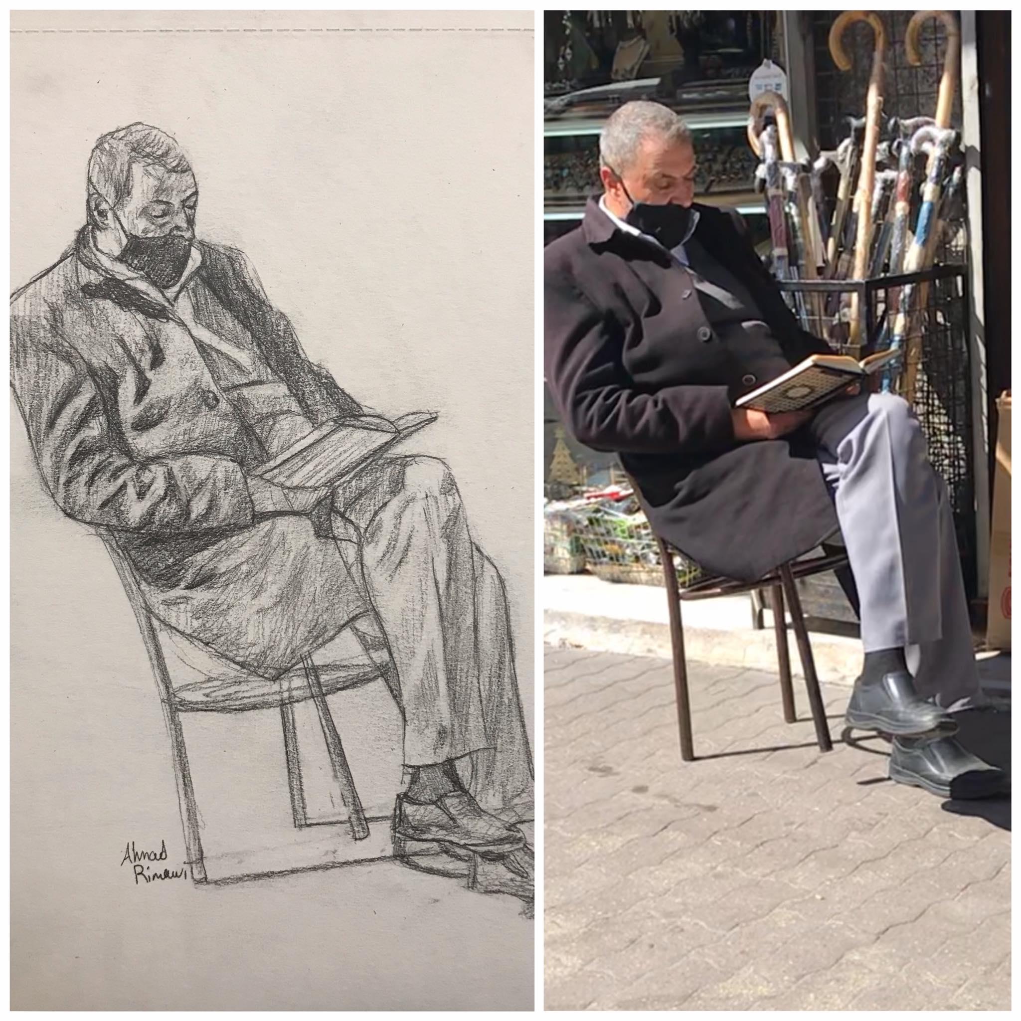 رجل يقرأ
