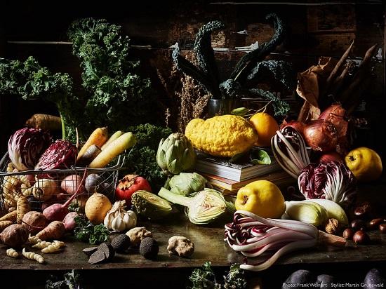 حياة فخمة من الخضروات الشتوية