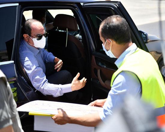 الرئيس السيسى يتابع أعمال تطوير الطرق والمحاور بمنطقة شرق القاهرة