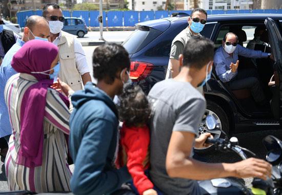 الرئيس السيسي خلال جولته بشرق القاهرة