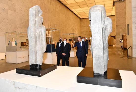 الرئيس-السيسي-بمتحف-الحضارة-بالفسطاط-(15)