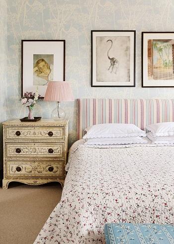 ديكور غرفة النوم.. سرير قماش1