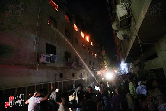 حرق كنيسة مارمينا بالعمرانية  (4)
