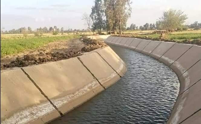 تبطين الترع يرشد استهلاك المياه