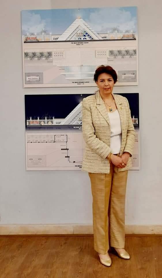 جانب من معرض الدكتورة هالة محمد حسنين بفنون جميلة الزمالك (1)