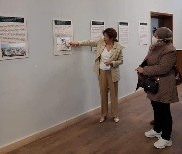 جانب من معرض الدكتورة هالة محمد حسنين بفنون جميلة الزمالك (5)