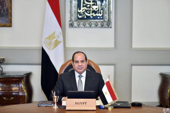 الرئيس السيسى خلال حوار القادة