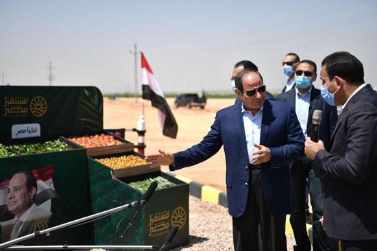 خلال تفقد مشروع مستقبل مصر
