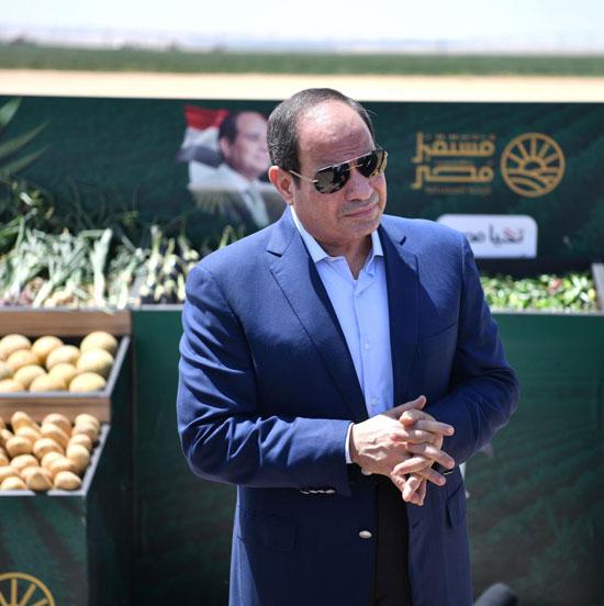 الرئيس-السيسى-يتفقد-مشروع--مستقبل-مصر