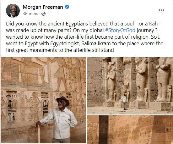 مورجان فريمان على فيس بوك