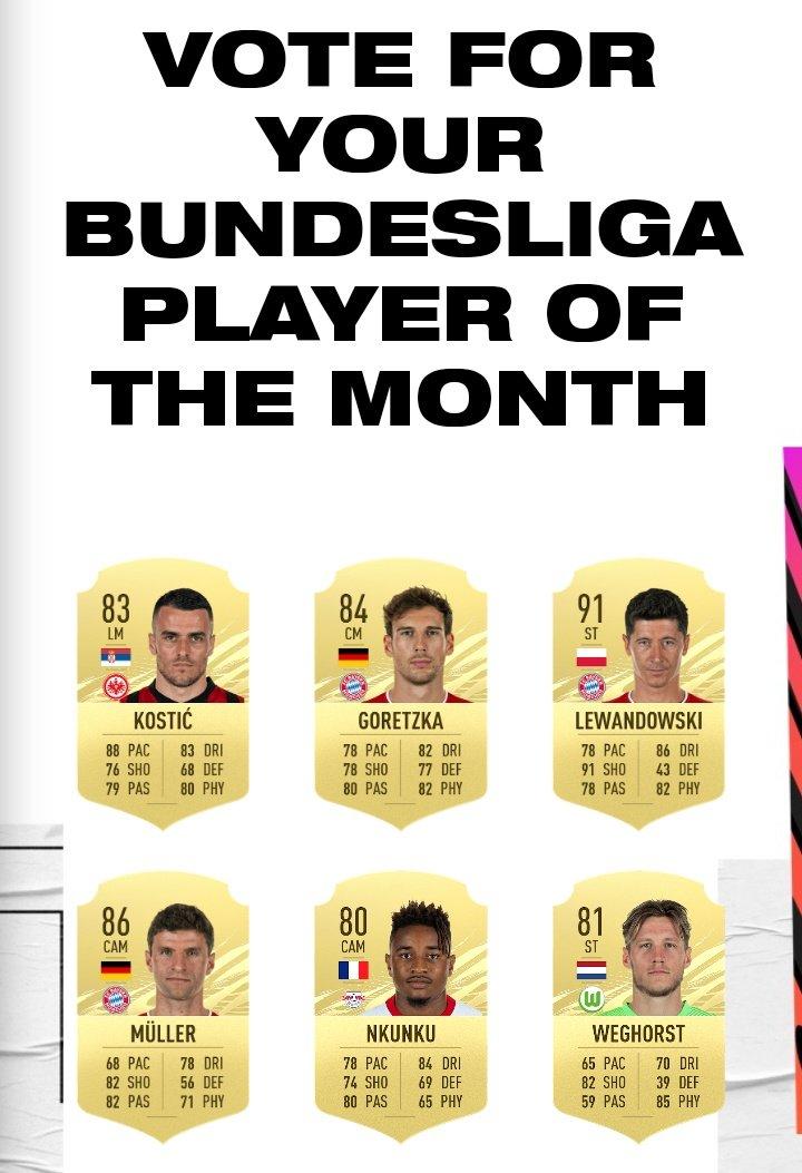 المرشحون لجائزة أفضل لاعب في شهر مارس
