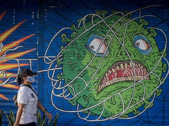 لوحة جدارية مستوحاة من فيروس كورونا في سولو