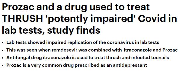 مضاد للفطريات وللاكتئاب يظهران نتائج فى الاختبارات ضد كورونا