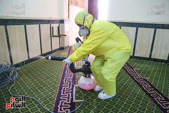تعقيم مساجد الأسمرات استعدادا لرمضان