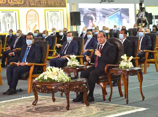 كلمة الرئيس السيسي خلال افتتاح مجمع الإصدارات المؤمنة والذكية