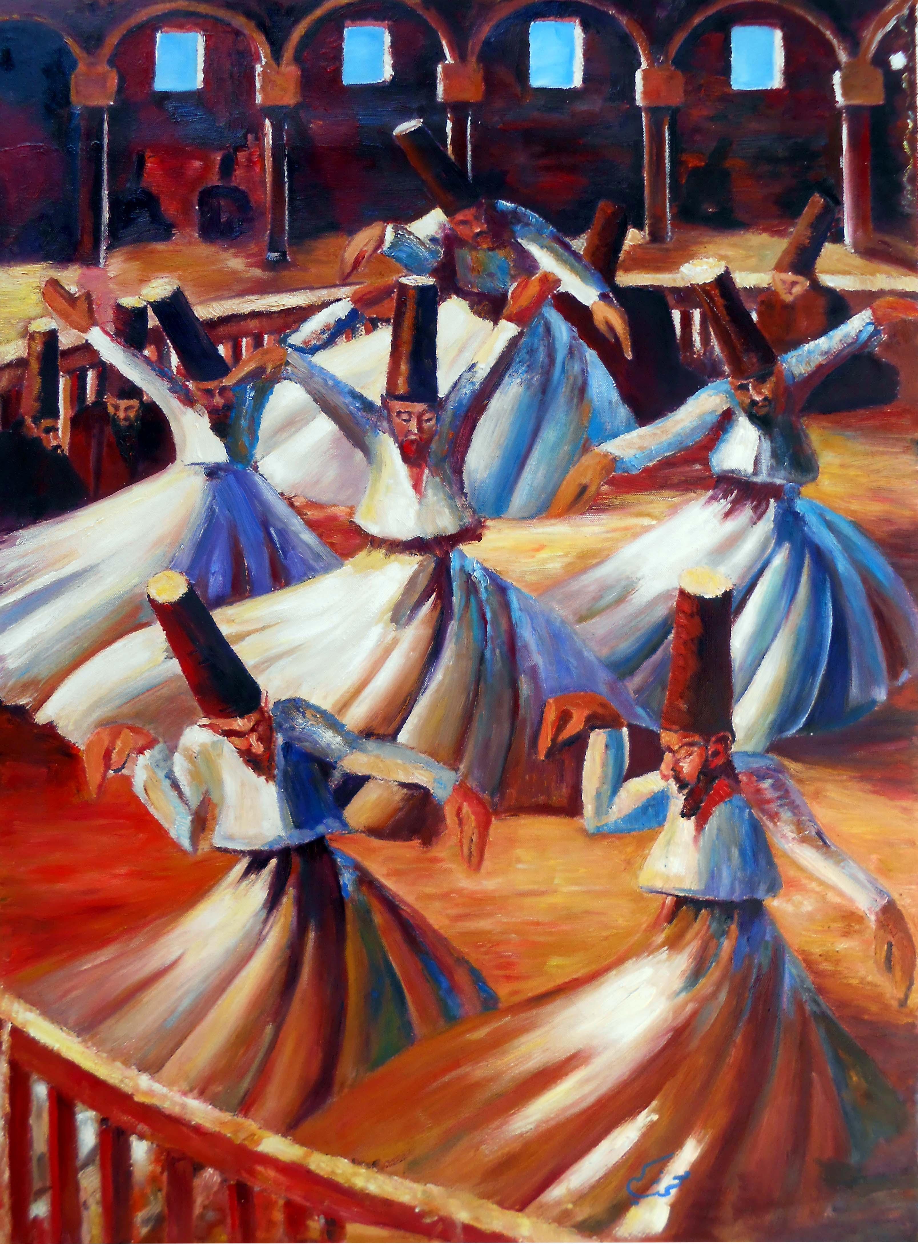 لوحة الدراويش