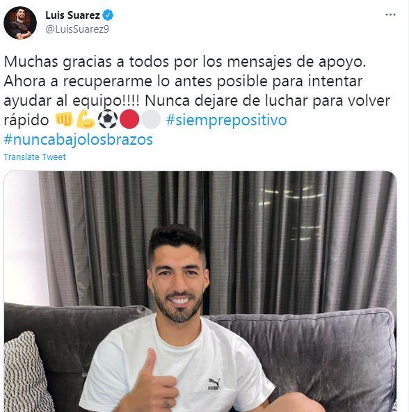 لويس سواريز على تويتر