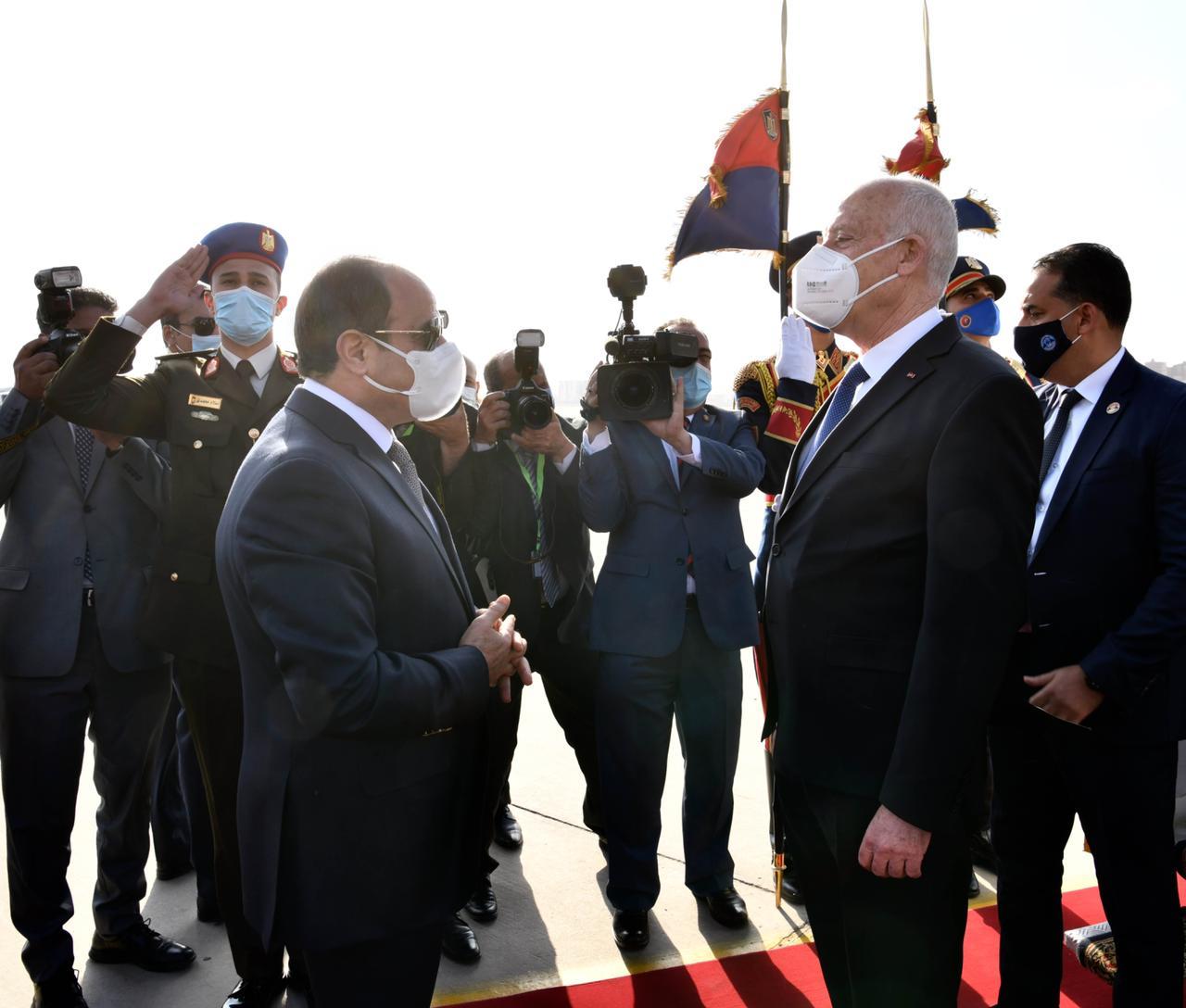 الرئيس السيسي يستقبل نظيره التونسى قيس سعيد (10)