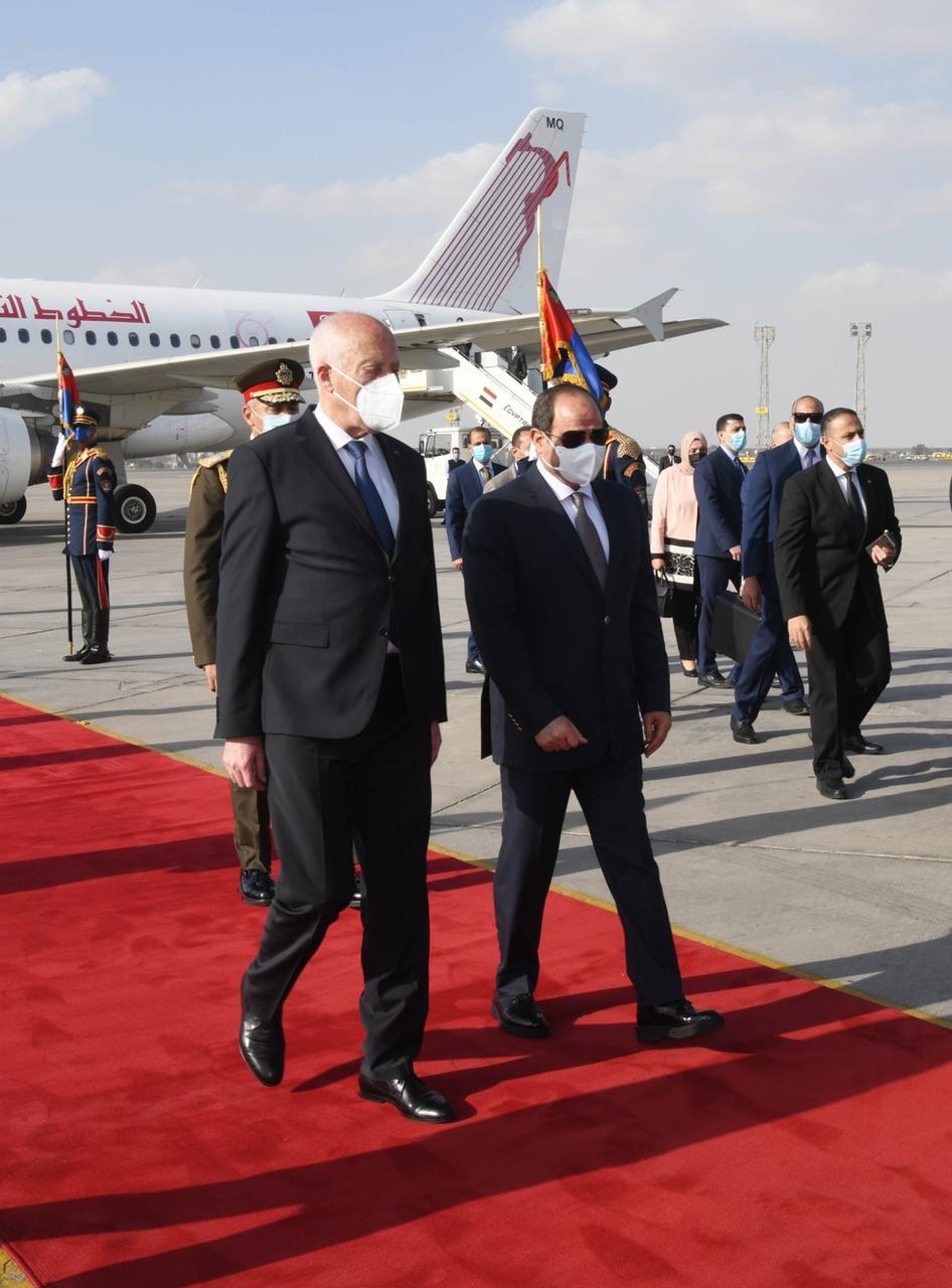 الرئيس السيسي يستقبل نظيره التونسى قيس سعيد (1)