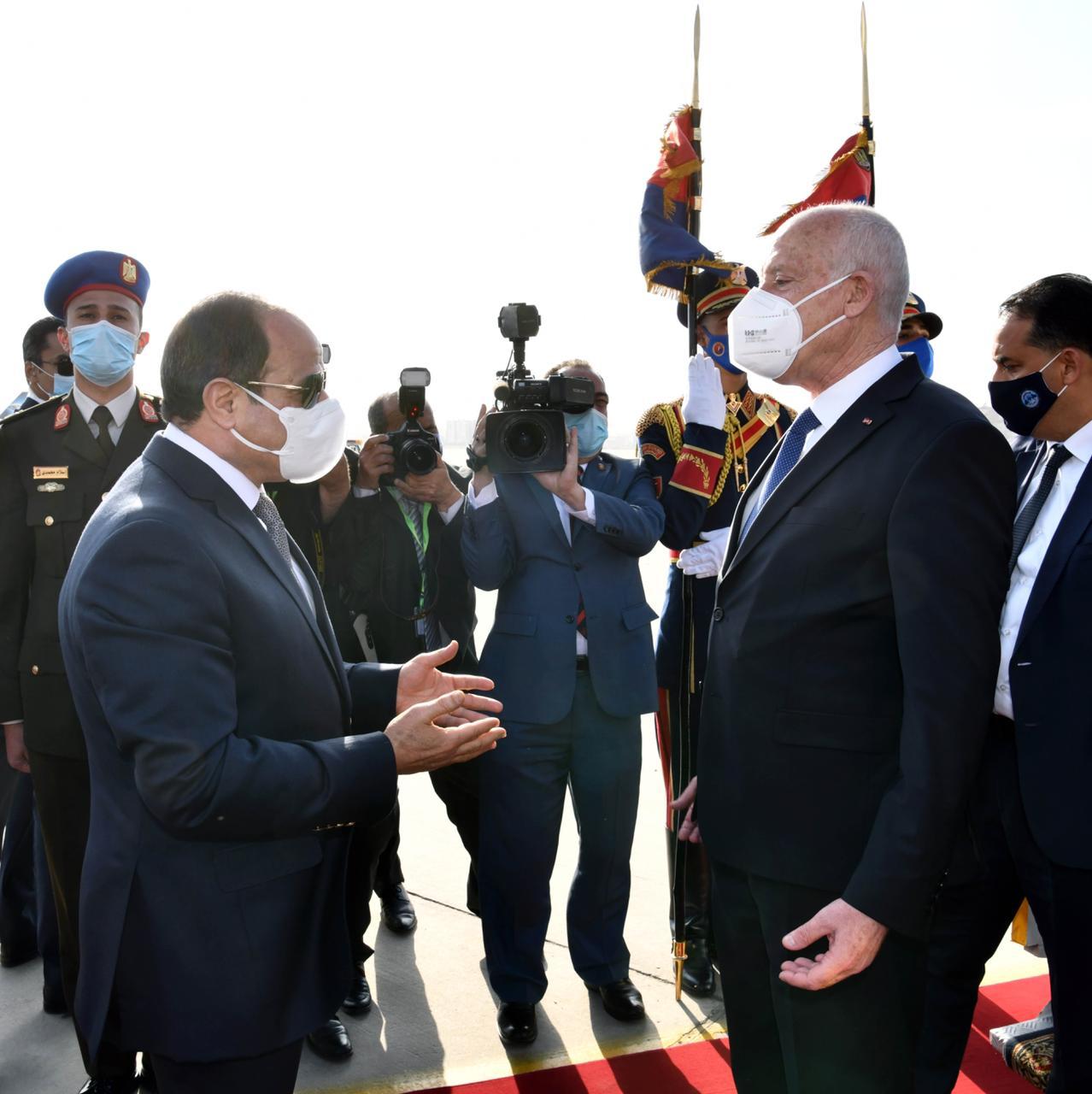 الرئيس السيسي يستقبل نظيره التونسى قيس سعيد (7)