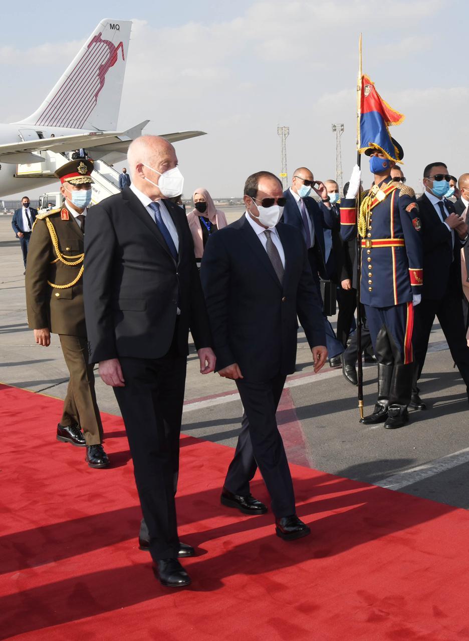 الرئيس السيسي يستقبل نظيره التونسى قيس سعيد (3)