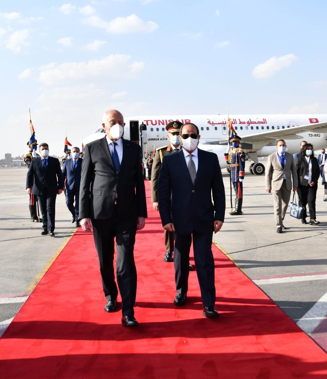 الرئيس السيسي يستقبل نظيره التونسى قيس سعيد (2)