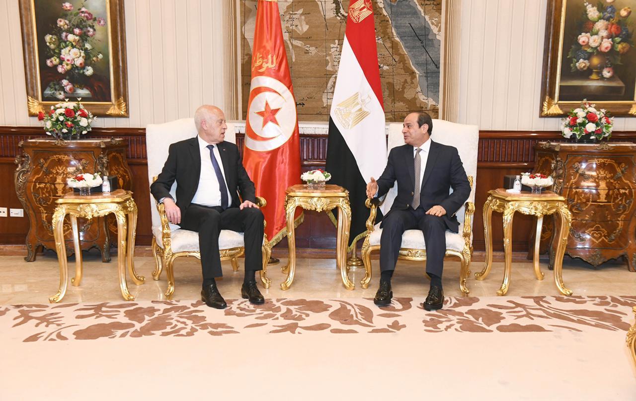 الرئيس السيسي يستقبل نظيره التونسى قيس سعيد (9)