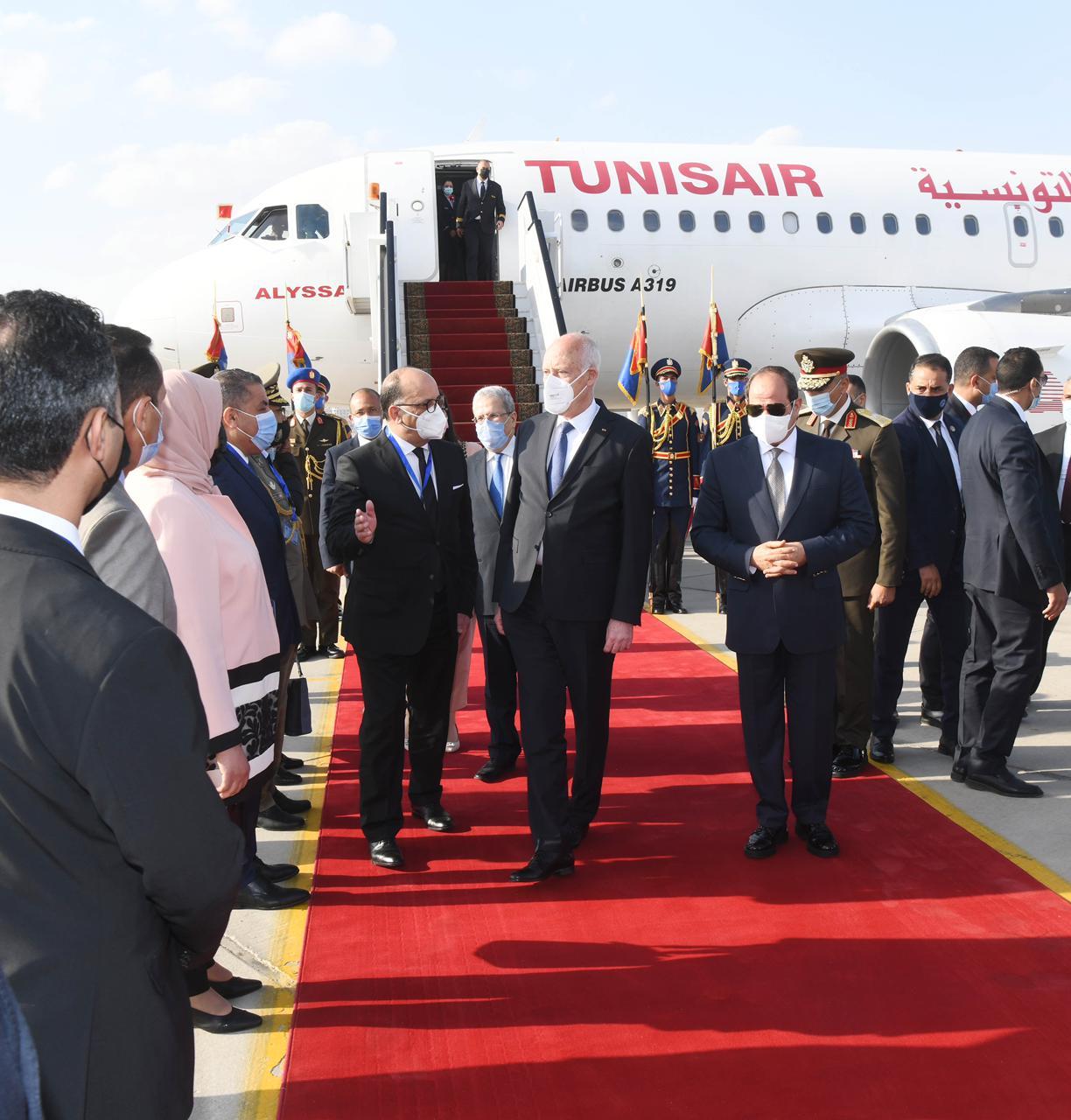 الرئيس السيسي يستقبل نظيره التونسى قيس سعيد (11)