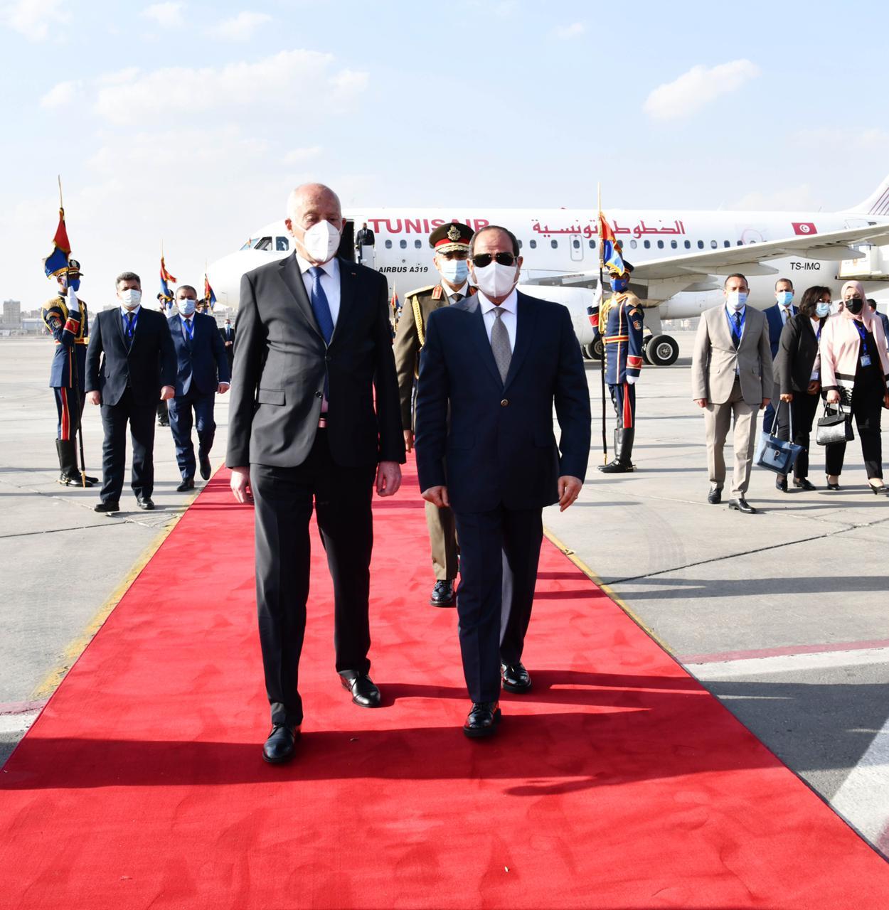 الرئيس السيسي يستقبل نظيره التونسى قيس سعيد (6)