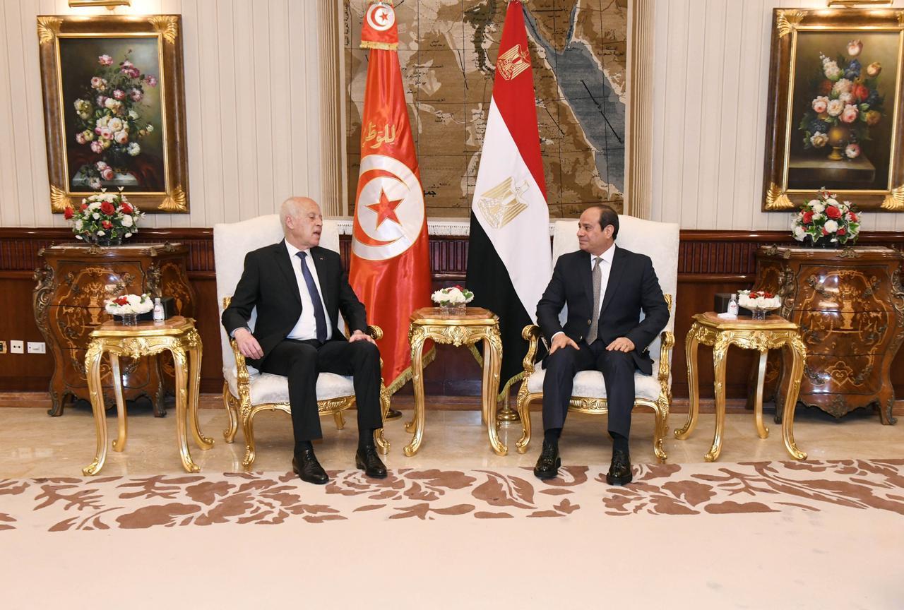 الرئيس السيسي يستقبل نظيره التونسى قيس سعيد (8)