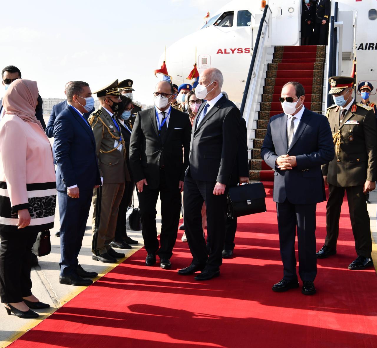 الرئيس السيسي يستقبل نظيره التونسى قيس سعيد (4)