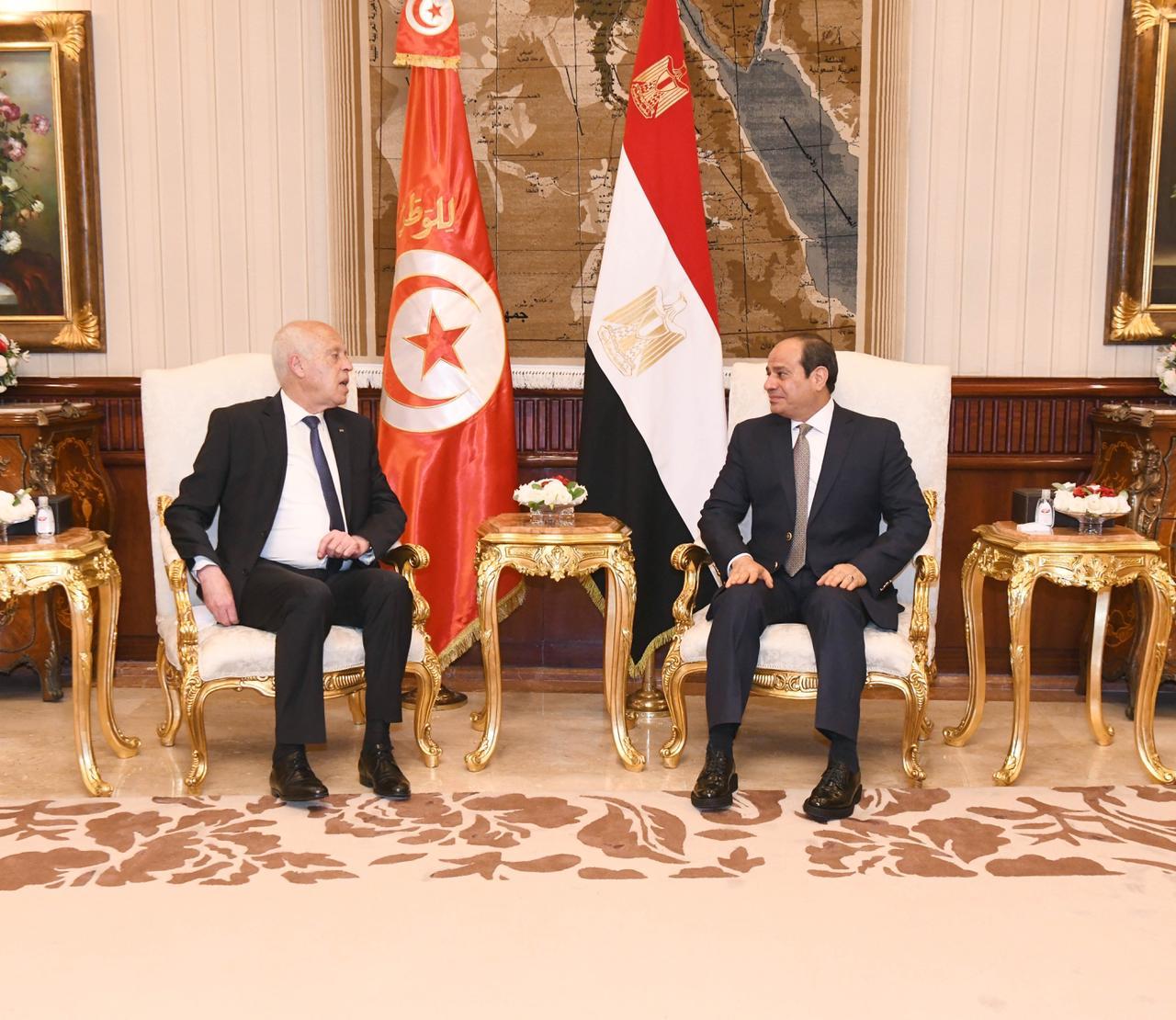 الرئيس السيسي يستقبل نظيره التونسى قيس سعيد (5)