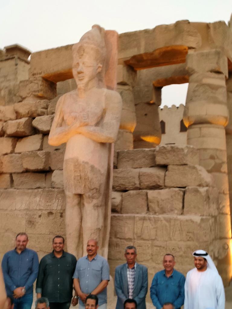 الفرعون رمسيس الثانى يحتفل بعودة تماثيله لواجهات معبده بعد آلاف السنين (6)