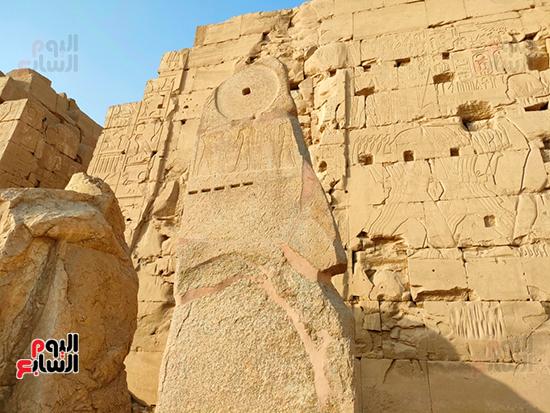 الكشف-عن-أكبر-لوحة-تاريخية-للملك-العسكرى-العظيم-أمنحتب-الثانى-بالكرنك-(4)