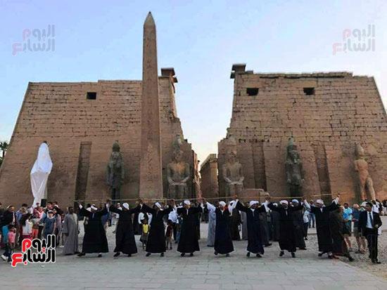 احتفالية بتركيب التمثال الثالث للملك رمسيس