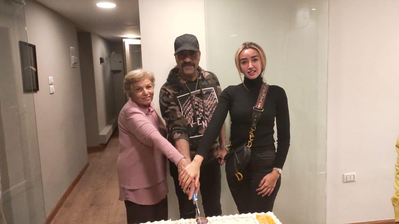 محمد سعد وهنا الزاهد والفنانة انعام سالوسة