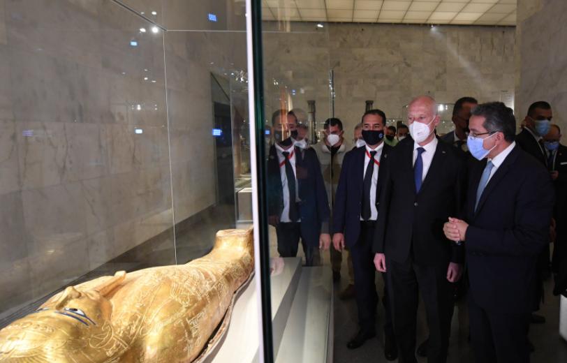 الرئيس قيس سعيد يزور متحف الحضارة
