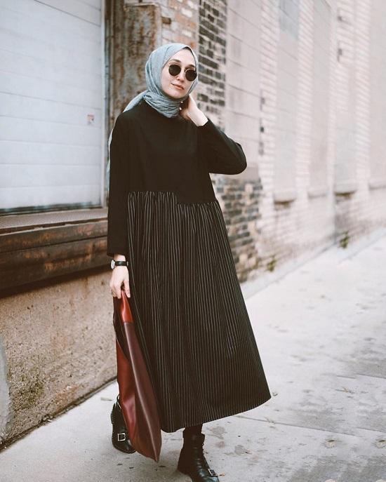 أفكار لتنسيق ملابسك السوداء مع الحجاب (2)