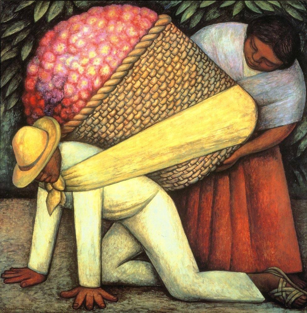 لوحة حامل ورد