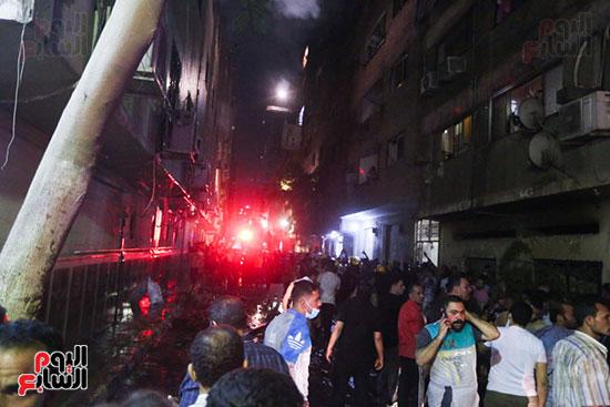 قوات الحماية المدنية تتسيطر على الحريق