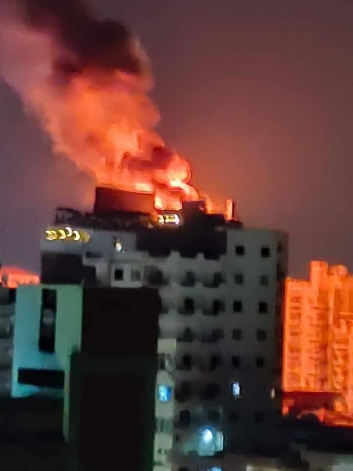 اندلاع حريق باحد فنادق مدينة طنطا فى الغربية (2)