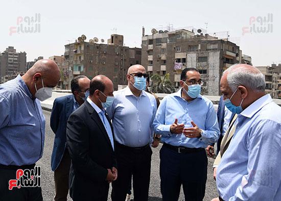رئيس الوزراء يتفقد أعمال محور الفريق كمال عامر  (14)