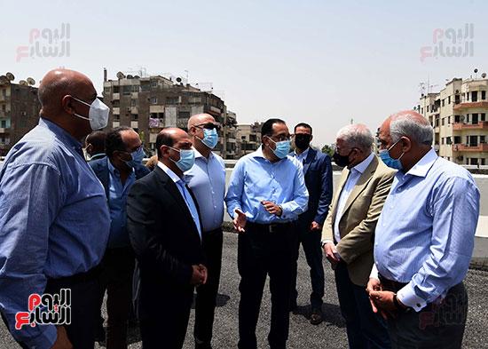 رئيس الوزراء يتفقد أعمال محور الفريق كمال عامر  (13)