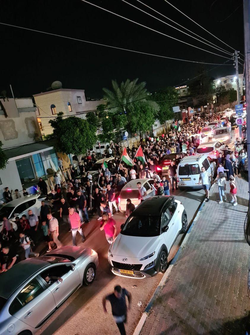 مظاهرات حاشدة بمدينة اللد