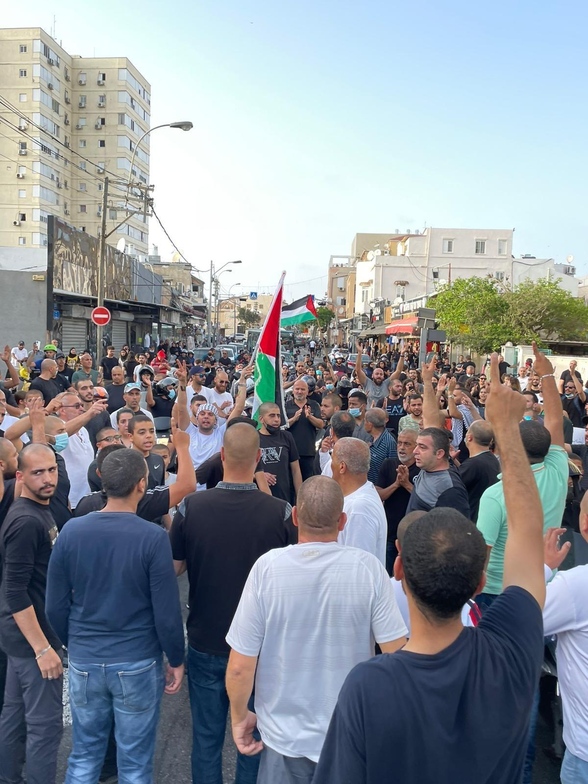 جانب من المظاهرات الفلسطينية