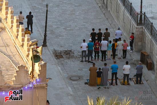 صلاة عيد الفطر بمسجد عمرو بن العاص