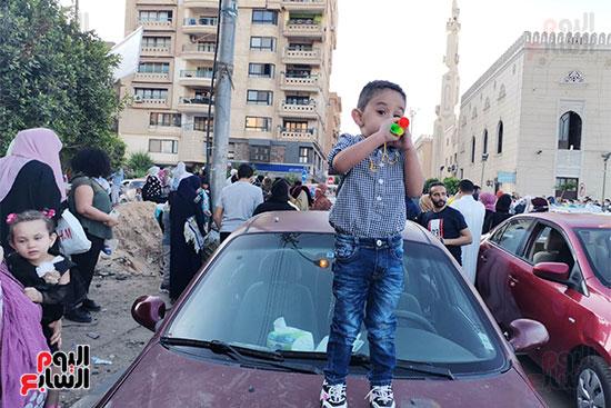 احتفالات عيد الفطر المبارك من أمام مسجد أبو بكر الصديق بمساكن شيراتون (73)